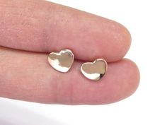 A Tiny Rose Gold Heart earrings Birthday gift A by artstudio88