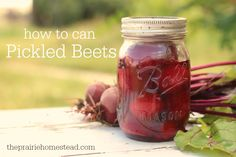 how to can beets - this recipe uses apple cider vinegar and no extra sugar, which I like over the white vinegar and high sugar recipes.