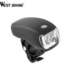 WEST BIKING Cycling Bike Super Bright 5 LED Front Torch Headlight Light Lamp Bracket 3-Modes Waterproof Black Bicycle Light - free shipping worldwide
