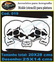 PRP Stencils: Stencil Caveiras, Ossos e Esqueletos