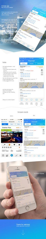"iCrimea app ""Cafe screen"" redesign by Max Python, via Behance"