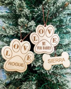 @SunshineLaserCreations posted to Instagram: We all love our fur babies. These ornaments are the perfect thing. The fur babies one is perfect to give as a gift. It can also be personalized with up to 3 names. www.sunshinelasercreations.com #sunshinelasercreations #furbabies   #dogmom #lovemydogs #ilovemydogs #furbaby #shoplocalyyc #shoplocalcanada #slcmembers #cochranemoms #cochranesmallbusiness #personalizedornaments #petornament #madeincanada #madeinalberta #canadianmade #yycmaker #yycmoms… Baby L, Personalized Ornaments, Love Is All, Dog Mom, Fur Babies, Birthdays, Names, Christmas Ornaments, Holiday Decor