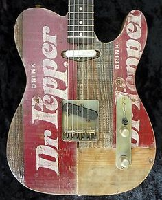 WR Crate-O-Caster Vintage 1973 Dr Pepper Crate Top Custom Shop Telecaster Guitar