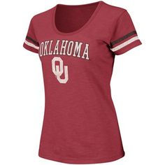 Oklahoma Sooners Ladies Endzone T-Shirt - Crimson
