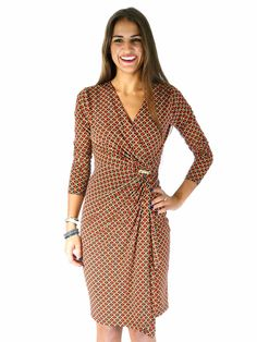 MICHAEL Michael Kors | Printed Jersey Wrap Dress www.sabrinascloset.com