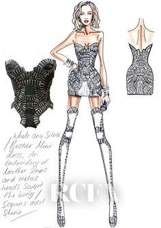 Teen Music Studio Wardrobe Design Sketches Beyonce