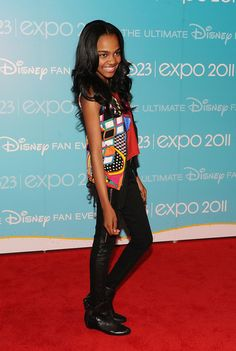 CHINA ANN MCCLEAN FASHION | Actress China Anne McClain attends Day 2 of Disney's D23 Expo 2011 at ...