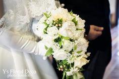 芍薬のキャスケードブーケ @聖マーガレット礼拝堂  ys floral deco