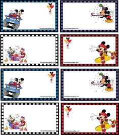 alice brans posted Mickey free printable labels to their -wonderful world of disney- postboard via the Juxtapost bookmarklet. Mickey Mouse Classroom, Disney Classroom, Classroom Ideas, Mickey Party, Mickey Mouse Birthday, Minnie Mouse, Disney Scrapbook, Scrapbooking, Cadeau Disney