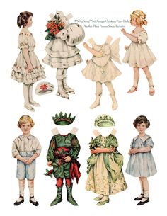 Antique Christmas Paper Dolls