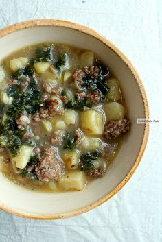 Sausage, kale and potato soup - Solid Gold Eats. Used my Marquita Farms CSA kale and potatoes for this recipe.
