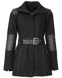 Danier, leather fashion and design: Chelsea, wool and quilted soft leather jacket.