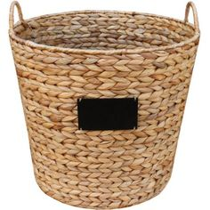 Buy Better Homes and Gardens Hyacinth Round Basket at Walmart.com