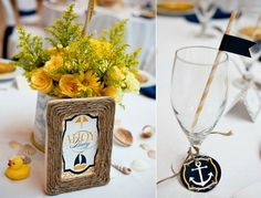 Love the use of the twine on the photo frame. And the little flag straw = awesomeness.