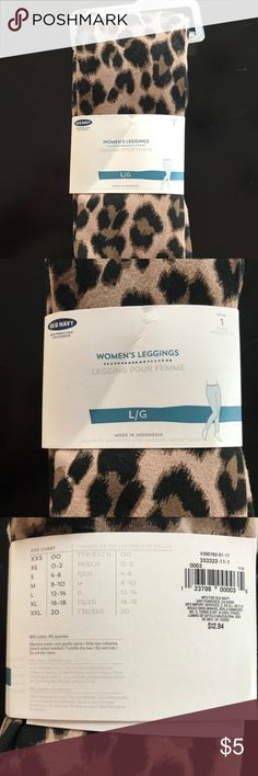 Old Navy Leopard Print Leggings 96% cotton, 4% spandex leggings from Old Navy Old Navy Pants Leggings