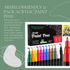 Painted Rocks Kids, Painted Stones, Stone Painting, Rock Painting, Diy Mug Designs, Acrylic Paint Pens, Diy Mugs, Acrylic Flowers, How To Make Paint