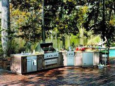 cuisine-extérieure-armoires-barbecue-four