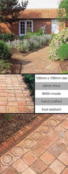 English Terracotta Clay Garden Cobbles