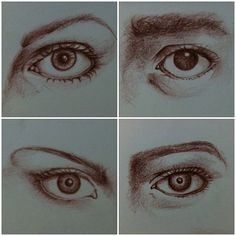 Today's warm up sketches #eye #sketchbook #art # sketch #draw @Sharon Young via instragram