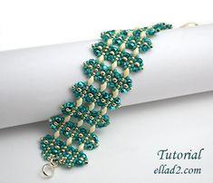 Tutorial Alcira Bracelet - Beading tutorial, Beading Pattern,Instant download,PDF file, Jewelry Tutorial