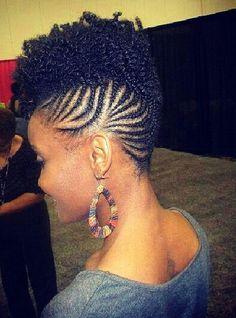 Braided Natural Hairstyle! #BraidedNaturalHair