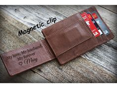 Personalized Lace Genuine Leather Money Clip