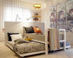 bedroom - love this bed configuration! | For the Home | Pinterest ...