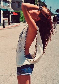 open arms... This is a little bold for me sans bra... But I love the idea! Even as a cool coverup?