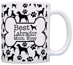 Dog Owner Gifts Best Labrador Mom Ever Paw Pattern Gift Coffee Mug Tea Cup Bone Pattern