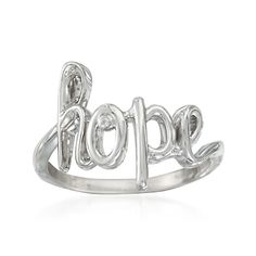 Hope Ring With Diamond Accent in Sterling Silver