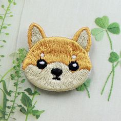 Cute Dog Shiba Patch Embroidered Cartoon by FlagPatchKingdom