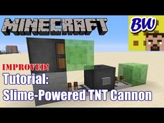 How To Build A Slime Block Tnt Cannon In Minecraft
