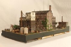 Industry Models, Train Set, Ho Scale, Model Building, Birdhouses, Model Homes, Model Trains, Watercolor And Ink, Dollhouses