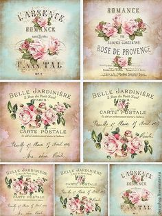 vintage decoupage 39 little bi Vintage Labels, Vintage Ephemera, Vintage Cards, Vintage Paper, Roses Vintage, Vintage Retro, Printable Labels, Free Printables, Vintage Rosen
