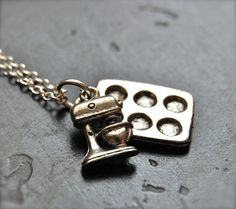 The Baker's Necklace  Sterling Silver Chain  di TheBumblingBird, $26.00