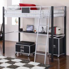bunk loft beds with desk | Anantasoft