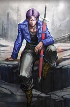 Future Trunks art! Very cool! #trunks#draginballz