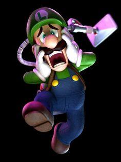 Frightened Luigi - Characters  Art - Luigis Mansion Dark Moon.jpg