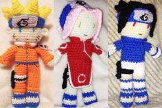 Crochet Naruto Uzumaki Sakura Haruno & by MoonlitShopPatterns