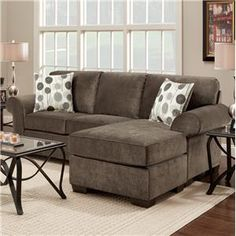 Affordable Furniture Elizabeth Stationary Sofa w/ Chaise - Colder's Furniture and Appliance - Sofa Sectional