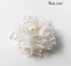 White+Flower+Hair+Clips+Off+White+Lace+Flowers+Bridal+by+nurichant,+$11.00
