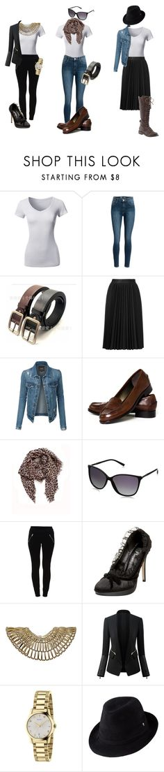 """""""10 pieces 10 accessories 10 outfits - neutral essentials outfit 4-6"""" by julianne-lalonde ❤ liked on Polyvore featuring Astraet, LE3NO, Talbots, Rika, Lucky Brand, Vila Milano, Dorothy Perkins, Gucci and Helen Kaminski"""