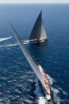 J-class Sleek and Slender Sailing Yachts - Seatech Marine Products / Daily Watermakers by georgette J Class Yacht, Sailboat Racing, Sailing Ships, Sailing Yachts, Classic Sailing, Yacht Boat, Super Yachts, Sail Away, Set Sail