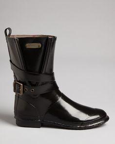 Burberry Buckle Rain Boots   Bloomingdale's