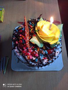 Birthday Cake Sparklers, 24th Birthday Cake, Happy Birthday Chocolate Cake, Happy Birthday Cake Images, Tea Recipes, Snack Recipes, Dessert Recipes, Chocolate Cupcakes Decoration, Cake Story