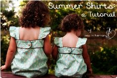Tutorial: Sleeveless summer shirts for little girls