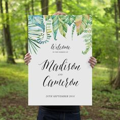 Printable Wedding Welcome Sign, Rustic Whimsical DIY Printable Sign, Wedding…