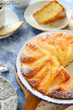 A rustic yogurt cake topped with sweet, soft pears and a dusting of cinnamon sugar is worthy of both your dessert and breakfast tables. Pear Recipes, Sweet Recipes, Cake Recipes, Pear Dessert Recipes, Jelly Recipes, Yogurt Cake, Healthy Yogurt, Food Cakes, Desert Recipes