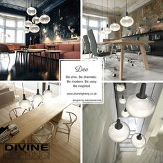 Glass pendant with integrated dimmable LED. Now you can create just the right atmosphere for any occasion. Glass Pendants, Art Pieces, Led, Lights, Table Decorations, Modern, Inspiration, Furniture, Design