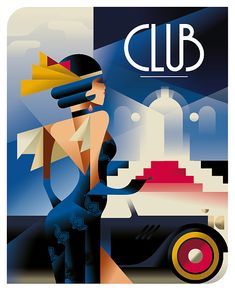 Club Posters by Mads Berg
